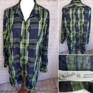 Woodrich women's flannel plaid tunic XXL